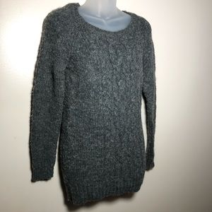 Medium American Eagle Dark Gray Long Sweater Wool